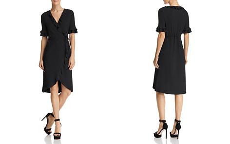 AQUA Ruffled Rib-Knit Wrap Dress - 100% Exclusive - Bloomingdale's_2