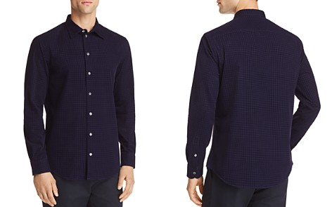 Emporio Armani Flocked Houndstooth Regular Fit Button-Down Shirt - Bloomingdale's_2