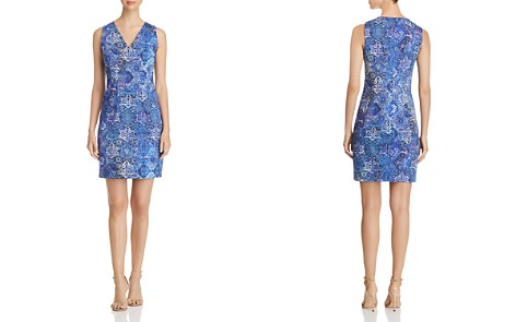 Elie Tahari Emory Tile Print Sheath Dress - Bloomingdale's_2