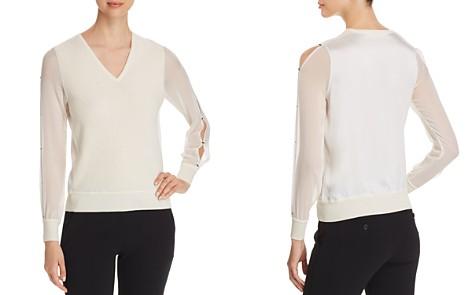 Elie Tahari Maria Slit-Sleeve Sweater - Bloomingdale's_2