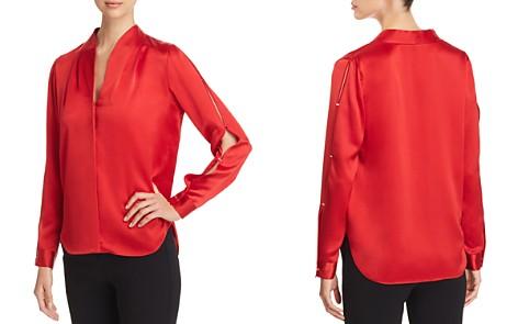 Elie Tahari Diya Slit-Sleeve Silk Blouse - Bloomingdale's_2