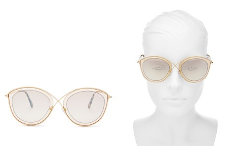 Tom Ford Women's Sasha Mirrored Round Sunglasses, 55mm - Bloomingdale's_2