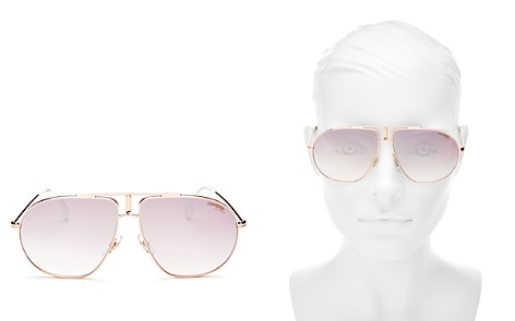 Carrera Women's Mirrored Brow Bar Round Sunglasses, 60mm - Bloomingdale's_2