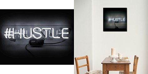 "Oliver Gal Hustle Neon Sign, 20"" x 4"" - Bloomingdale's_2"