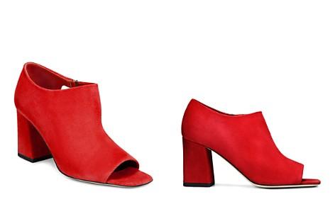 Via Spiga Women's Eladine Open-Toe Suede Block Heel Booties - Bloomingdale's_2