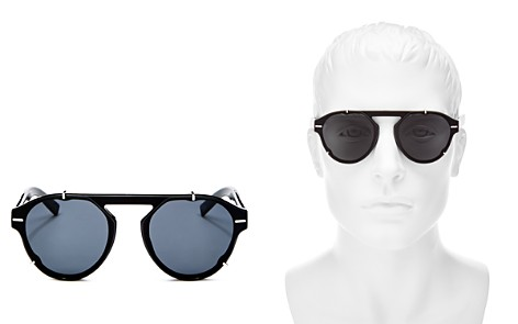 Dior Homme Men's Black Tie Flat Top Round Sunglasses, 62mm - Bloomingdale's_2