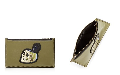 COACH 1941 x Disney Skull Leather Zip Card Case - Bloomingdale's_2