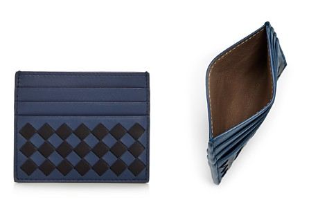 Bottega Veneta Two-Tone Woven Leather Card Case - Bloomingdale's_2