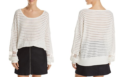 FRENCH CONNECTION Astra Mesh-Inset Striped Sweater - Bloomingdale's_2