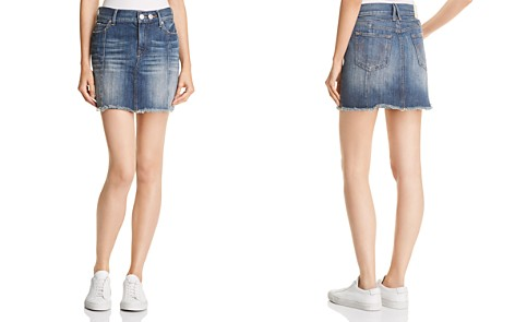 True Religion Mid Rise Denim Skirt in Seasoned Blue - Bloomingdale's_2