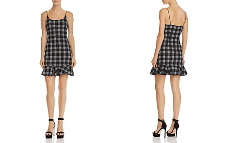AQUA Flounce-Hem Plaid Dress - 100% Exclusive - Bloomingdale's_2