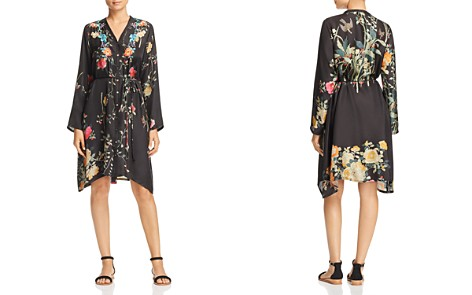 Johnny Was Collection Embroidered Silk Shirt Dress - Bloomingdale's_2