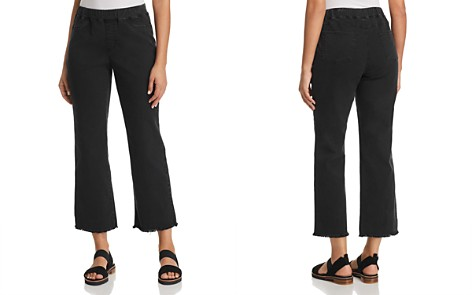 Eileen Fisher Pull-On Cropped Flare Jeans in Washed Black - Bloomingdale's_2