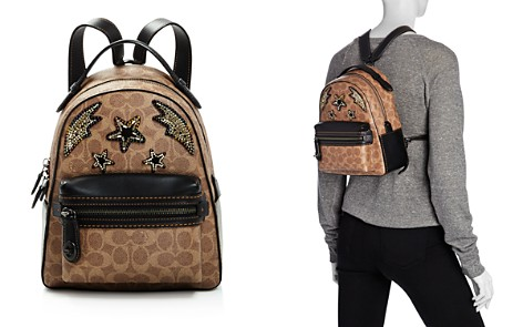 COACH Rainbow Stud & Crystal Embellished Signature Coated Canvas Campus Backpack 23 - 100% Exclusive - Bloomingdale's_2