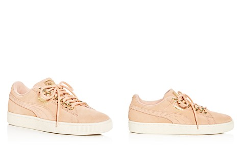 PUMA Women's Classic X Chain Suede Lace Up Sneakers - Bloomingdale's_2