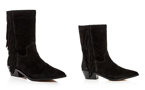 Rebecca Minkoff Women's Krissa Suede Fringe Low-Heel Boots - Bloomingdale's_2