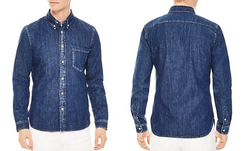Sandro Heritage Raw Slim Fit Button-Down Shirt - Bloomingdale's_2