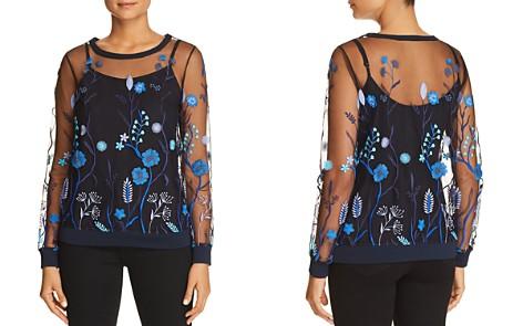 Elie Tahari Val Floral Embroidered Mesh Top - Bloomingdale's_2