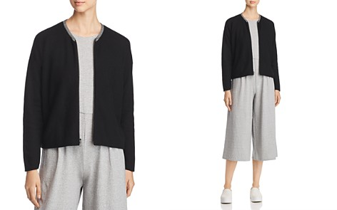 Eileen Fisher Organic Cotton Zip-Up Cardigan - Bloomingdale's_2