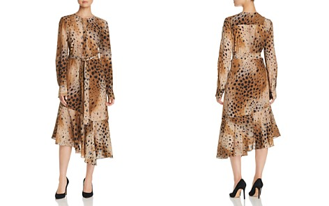 Lafayette 148 New York Delancy Cheetah-Print Silk Dress - Bloomingdale's_2
