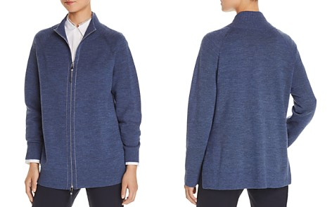 Lafayette 148 New York Zip-Front Plaited Cardigan - Bloomingdale's_2