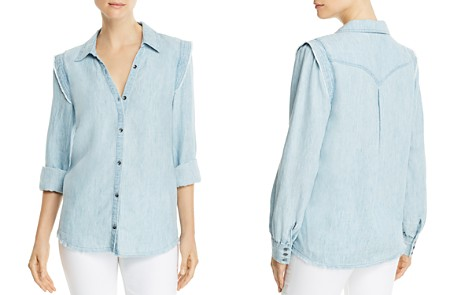PAIGE Alia Chambray Shirt - Bloomingdale's_2