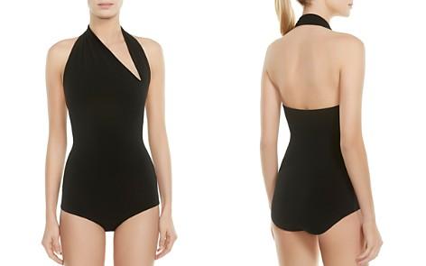 HALSTON HERITAGE Iconic Halter-Neck Bodysuit - Bloomingdale's_2