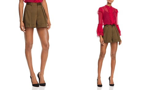 Alice + Olivia Conry Pleated Cuffed Shorts - Bloomingdale's_2