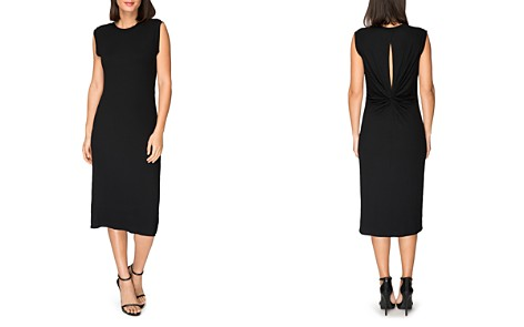 B Collection by Bobeau Lyla Ribbed Twist-Back Midi Dress - Bloomingdale's_2