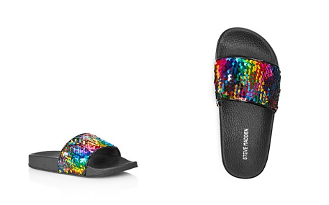 STEVE MADDEN Girls' JLovey Sequin Pool Slide Sandals - Little Kid, Big Kid - Bloomingdale's_2