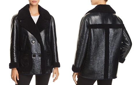 Theory Patent Shearling Jacket - Bloomingdale's_2