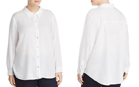Eileen Fisher Plus Classic Lightweight Shirt - Bloomingdale's_2