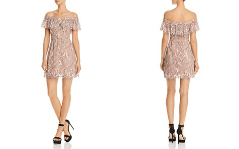 WAYF Terrace Off-the-Shoulder Lace Mini Dress - Bloomingdale's_2