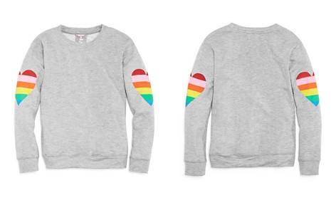 Flowers by Zoe Girls' Rainbow Heart Terry Sweatshirt - Big Kid - Bloomingdale's_2