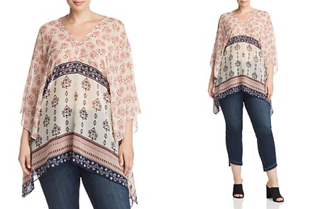 VINCE CAMUTO Plus Tile Wildflower Poncho - Bloomingdale's_2