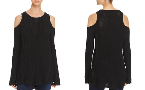 Elan Cold-Shoulder Sweater - Bloomingdale's_2