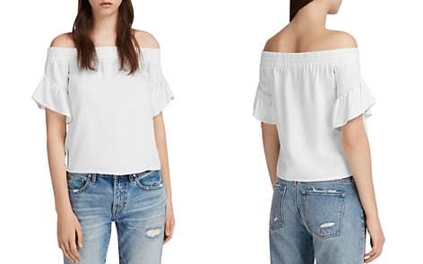 ALLSAINTS Adela Off-the-Shoulder Chambray Top - Bloomingdale's_2