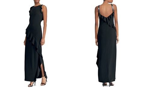 Lauren Ralph Lauren Ruffle-Trimmed Crepe Gown - Bloomingdale's_2