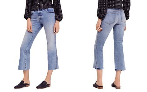 Free People Rita Crop Flare Jeans in Blue - Bloomingdale's_2