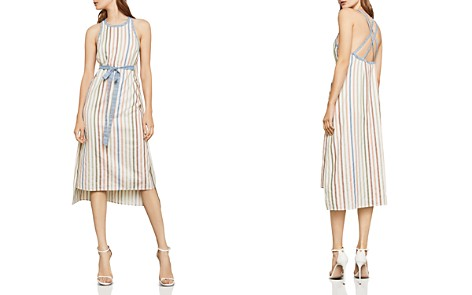 BCBGMAXAZRIA Striped Tie-Waist Midi Dress - Bloomingdale's_2