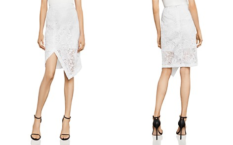 BCBGMAXAZRIA Asymmetric Lace Pencil Skirt - Bloomingdale's_2