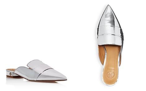 Tory Burch Women's Rosalind Pointed Toe Metallic Leather Mules - Bloomingdale's_2