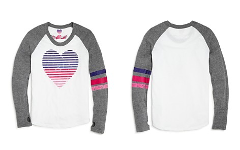So Nikki... Girls' Raglan Heart Tee - Big Kid - Bloomingdale's_2