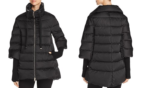 Herno Satin A-Line Down Coat with Detachable Gloves - Bloomingdale's_2