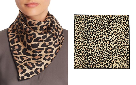 kate spade new york Leopard Print Silk Bandana - Bloomingdale's_2