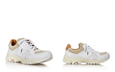 Pairs in Paris Women's Round-Toe Lace Up Leather & Suede Dad Sneakers - Bloomingdale's_2