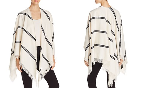 Eileen Fisher Striped Organic Cotton Poncho - Bloomingdale's_2