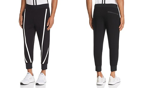 BLACKBARRETT by Neil Barrett Tape-Stripe Cropped Scuba Sweatpants - Bloomingdale's_2