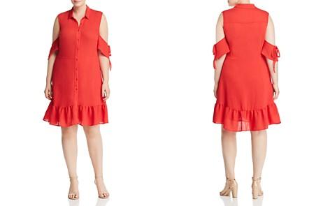 Lost Ink Cold-Shoulder Shirt Dress - Bloomingdale's_2