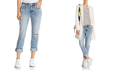 Current/Elliott The Fling Cuffed Cropped Boyfriend Jeans in 2 Year Destroy Rigid Indigo - Bloomingdale's_2